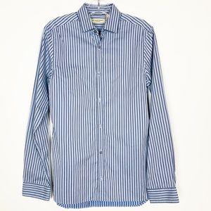 Burberry London 14.5 - 37 Blue Stripe Dress Shirt